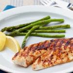 Photo of prepared recipe Lemony Tilapia and Asparagus Grill
