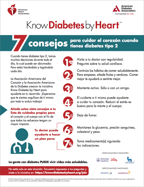 Thumbnail of 7 consejos para cuidar el corazón (7 Tips to Care for Your Heart Spanish Version) pdf