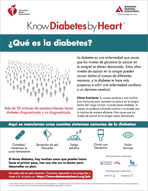 Thumbnail of ¿Qué es la diabetes? (What Is Diabetes Spanish Version) pdf