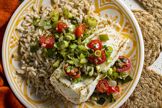 Creole-Sauced Halibut