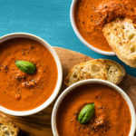 Photo of prepared recipe Tomato Basil Bisque